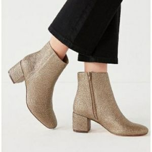 Urban Outfitters Jane Metallic Ankle Boots